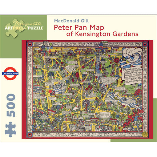 Peter Pan Map Of Kensington Gardens Jigsaw Puzzle The Literary