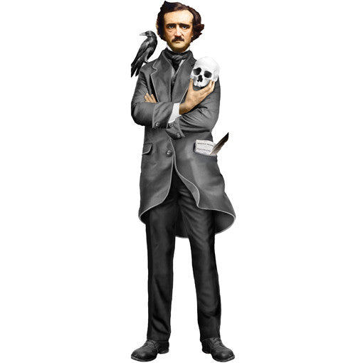 Edgar Allan Poe Shaped Card