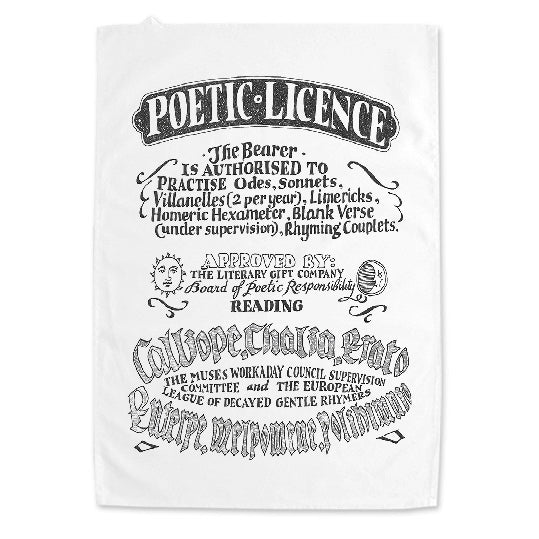 Poetic Licence Tea Towel