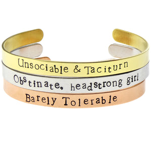 Pride and Prejudice Bangle Set