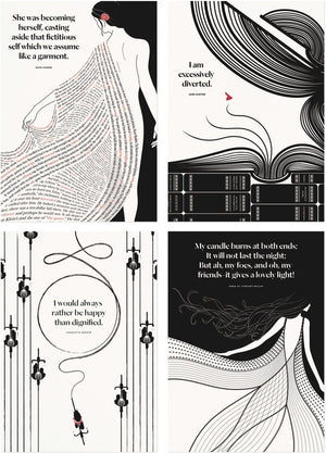 She: 100 Literary Postcards