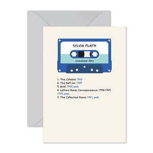 Sylvia Plath Mixtape Card