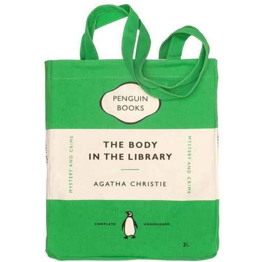 Image result for the body in the library tote bag