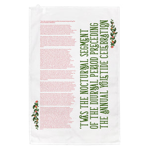 'Twas the Nocturnal Segment of the Diurnal Period Preceding the Annual Yuletide Celebration Teatowel