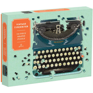 Typewriter 750 Piece Shaped Puzzle