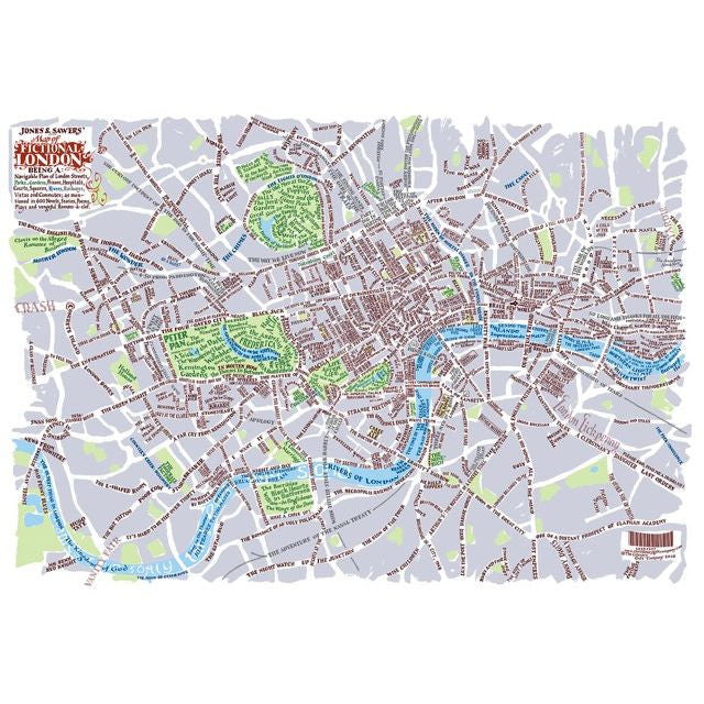 A Map of Fictional London now available as a map or poster The – Map for London