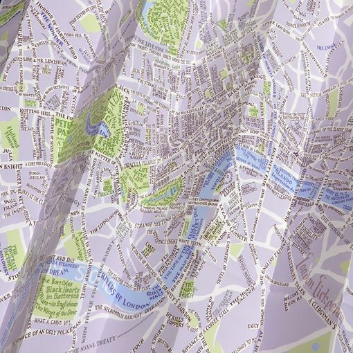 A Map of Fictional London now available as a map or poster The