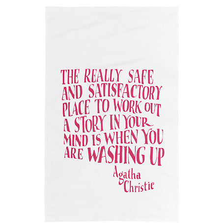 Agatha Christie Tea Towel