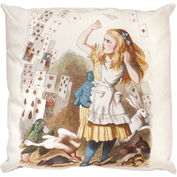 Alice And The Shower Of Cards Cushion