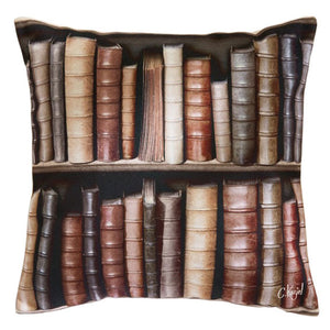 Antique Bookcase Cushion Cover