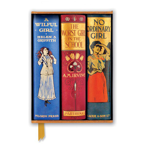 Book Spines Great Girls Notebook