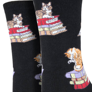 Cats on Books Socks