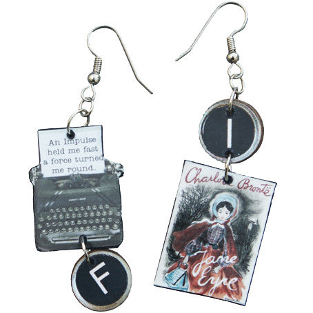 Charlotte Brontë Typewriter Earrings