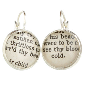 Shakespeare Earrings
