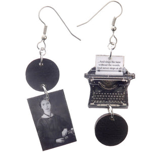 Emily Dickinson Favourite Poems Typewriter Earrings