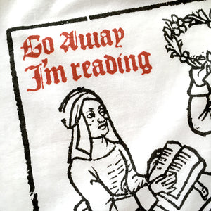 Go Away I'm Reading Woodcut T-shirt