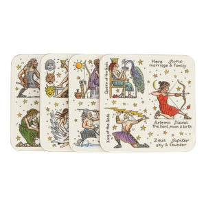Greek Gods & Goddesses Coasters (set of 4)