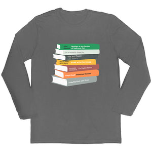 Long-sleeved Personalised Bookshelf T-shirt