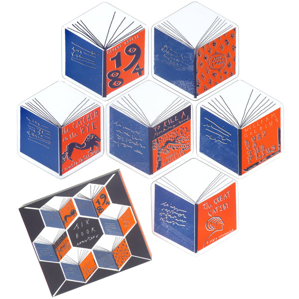 Isometric Books Coasters