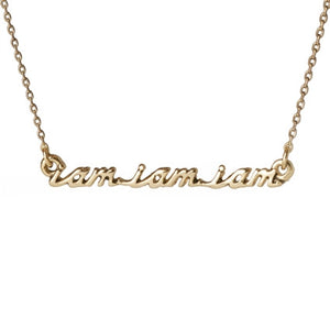 """I am I am I am"" Necklace - The Bell Jar"