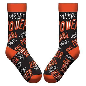 Words Have Power Socks