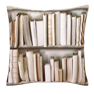Ivory Bookcase Cushion Cover
