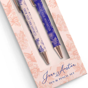 Jane Austen Floral Pen and Pencil Set
