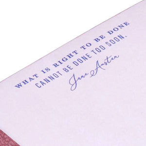 Jane Austen: What is Right to be Done Memo Cube