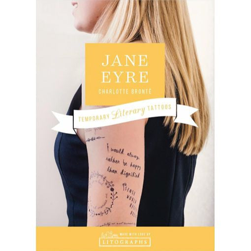 Jane Eyre by Charlotte Brontë Temporary Tattoos