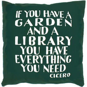 Cicero Library Cushion Cover Green