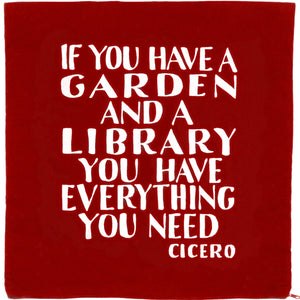 Cicero Library Cushion Cover Red
