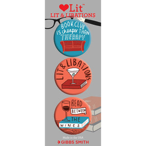 Lit & Libations Badge Set