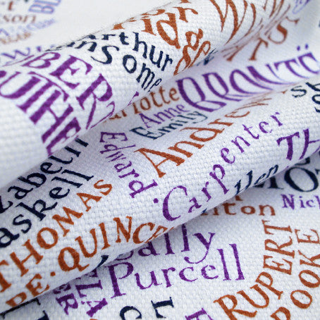 Literary Map of the UK Tea Towel