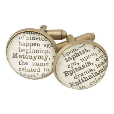 'Literary Terms' Cufflinks