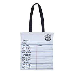Library Card Grey Cotton Tote Bag
