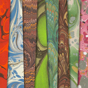 Marbled Endpaper Gift Wrap - set of 8