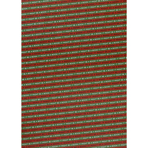It Might Be A Book! Wrapping Paper Red/Green