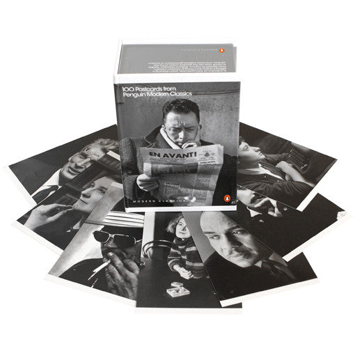 Black And White Postcard From >> 100 Writers In A Box Postcards From Penguin Modern Classics The