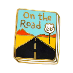 On the Road Enamel Pin