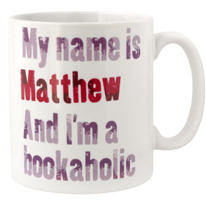 Personalised Bookaholic Mug