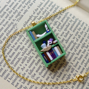 Pride and Prejudice Bookcase Necklace
