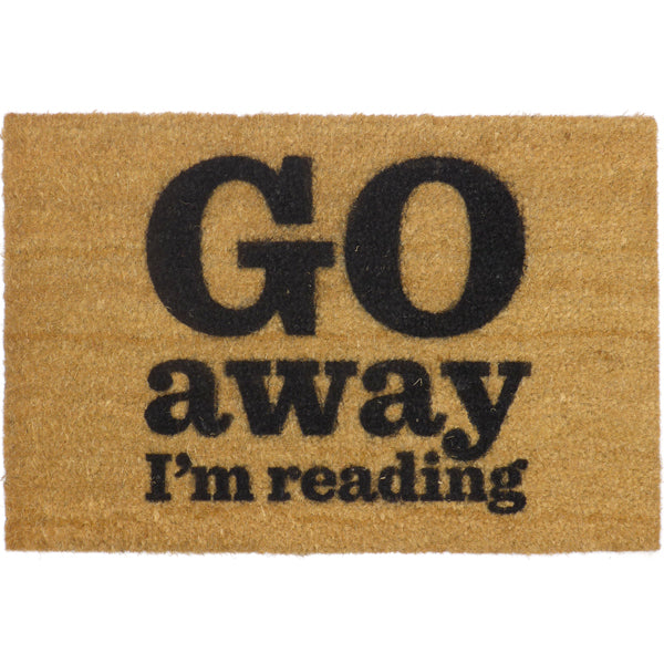 go away i 39 m reading doormat the literary gift company. Black Bedroom Furniture Sets. Home Design Ideas