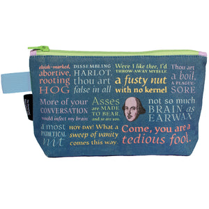 Shakespearean Insults Zipped Pouch