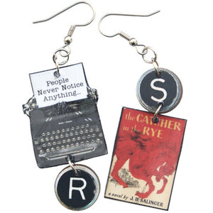 The Catcher in the Rye Typewriter Earrings