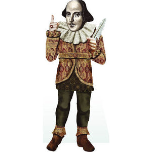 William Shakespeare Shaped Card