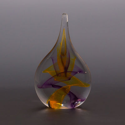 Tear Drop Sculpture - Amethyst/Saffron