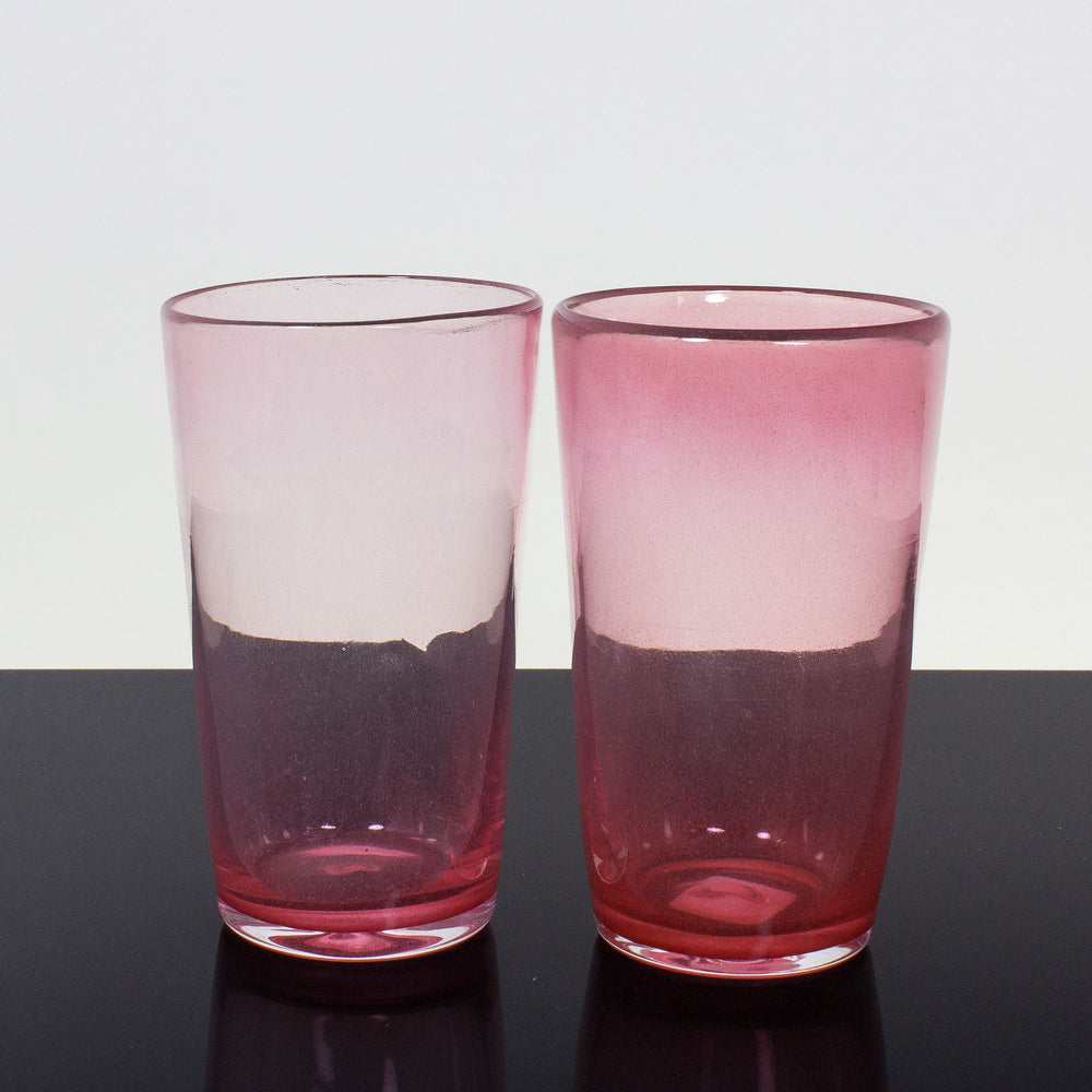 Pink Haze Pint Glasses