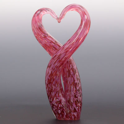 Heart Unity Sculpture - Ruby/Pink/White