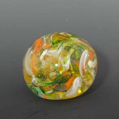 Orange and Green Paperweight