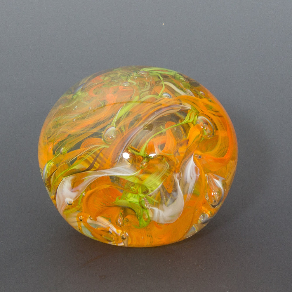 Orange and Apple Green Paperweight